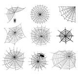 Spiders vector web silhouette spooky spider nature halloween element cobweb decoration fear spooky net. Spiders and spider web silhouette spooky nature Royalty Free Stock Photo