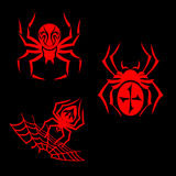 Spiders tattoo Stock Photo
