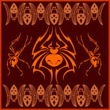 Spiders -  vector set. Designs and elements for Royalty Free Stock Photos