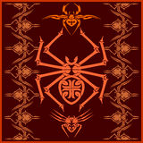 Spiders -  vector set. Designs and elements for. Tshirt Royalty Free Stock Image