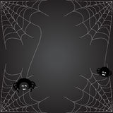 Spiders web. Halloween background. The spider weaves a web stock illustration