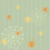 Spiders and web seamless background Royalty Free Stock Photography