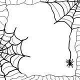 Spiderweb传染媒介背景 免版税库存照片