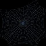 spiderweb Απομονωμένος στη μαύρη ανασκόπηση Διανυσματικό illustra περιλήψεων Στοκ φωτογραφίες με δικαίωμα ελεύθερης χρήσης