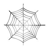 Spiderweb. Cartoon illustration of a spiderweb Royalty Free Stock Images