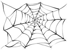 Spiderweb. Big black spider web Stock Photos