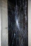 Spiderweb, defektes Glas stockfotografie