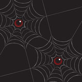 Spiderweb with Eyes on Black. Spiderweb with eyes drawn in Illustrator Stock Photos