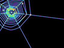 Spiderweb glows Royalty Free Stock Photo