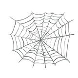 Spiderweb, Web Spider Vector Illustration. Webbing weaving Stock Photography