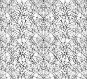 Spiderweb white seamless pattern. Royalty Free Stock Photo