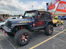 Spidey-Jeep lizenzfreies stockbild