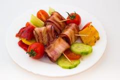 Spiedi del bacon fotografia stock