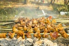 Spiedi del barbecue Immagine Stock