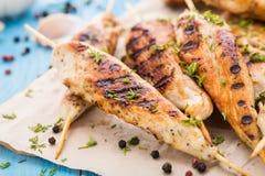 Spiedi del pollo Fotografia Stock