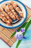 Spiedi del pollo Fotografie Stock