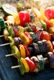 Spiedi di verdure Fotografia Stock