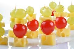 Spiedo del formaggio Fotografia Stock