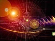 Spiegamento della geometria Immagine Stock
