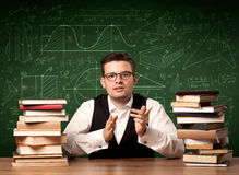 Spiegazione dell'insegnante Immagini Stock