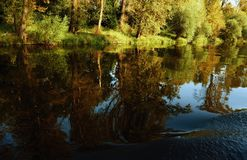 Spiegel auf dem Fluss Lizenzfreie Stockbilder