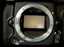 Spiegel der SLR Kamera Stockbild