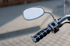 Spiegel des Motorrads Stockfotografie