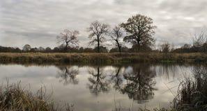 Spiegel-Fluss Stockfoto