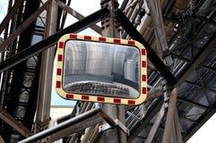 Spiegel op steiger Stock Foto