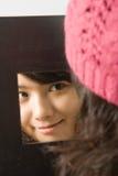 Spiegel-Portrait Stockbild