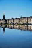 Spiegel van Bordeaux Stock Foto's