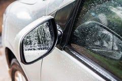 spiegelauto stock afbeelding