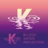 Spiegelbuchstabelogo K stock abbildung