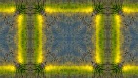 Spiegeleffect op een blauwe houten raad met gele lijnen vector illustratie