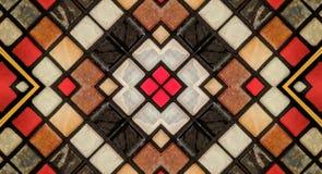 Spiegeleffect op kleine tegels royalty-vrije illustratie