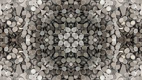 Spiegeleffect op ronde metaaldelen stock illustratie