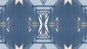 Spiegeleffekt auf eine Überführung stock abbildung
