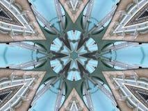 Spiegeleffekt zwischen zwei Brücken lizenzfreie abbildung