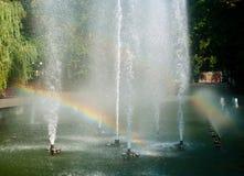 Spiegeljet und -regenbogen Lizenzfreie Stockfotografie