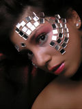Spiegels op funky gezicht royalty-vrije stock fotografie