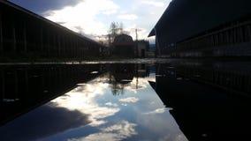 Spiegelsonnenaufgang Lizenzfreies Stockbild