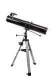 Spiegelteleskop mit Stativisolierung Stockbild