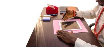 Spieghi l'affare moderno in Africa immagini stock libere da diritti