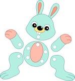 Spiel 141, das herausgeschnitten zu werden Kaninchen Lizenzfreies Stockfoto