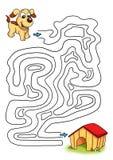 Spiel 33, der Hund Stockbild