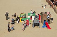 Spiel auf dem Strand Stockfotografie