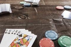 Spiel auf Holz stockbild