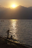 Spiel auf Strand Stockfotografie