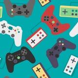 Spiel-Auflagen-nahtloses Muster Lizenzfreie Stockbilder