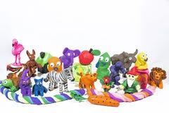 Spiel Clay World Zahlen gemacht vom Plasticine Lizenzfreie Stockfotos